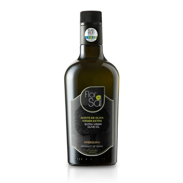 huile d'olive arbequina verre